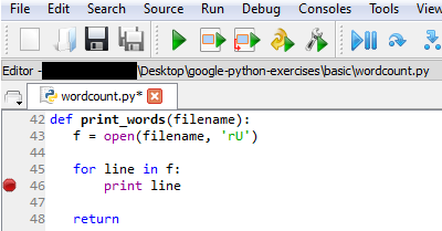 Debugging Python in Spyder with Command Line Flags