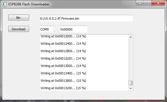 ESP8266-ESP-12-Ai-thinker-firmware-downloading